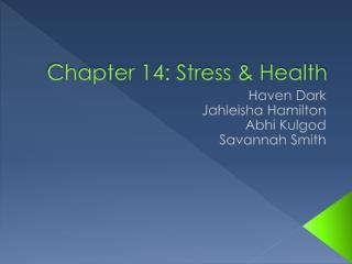 Chapter 14: Stress & Health