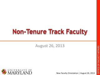 Non-Tenure Track Faculty
