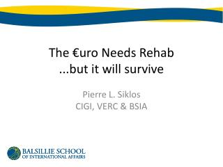 The €uro Needs Rehab ...but it will survive