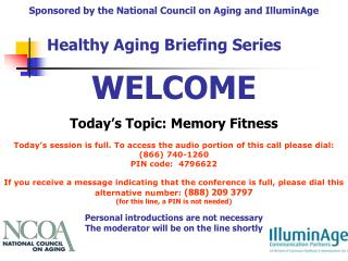 Today's Topic: Memory Fitness