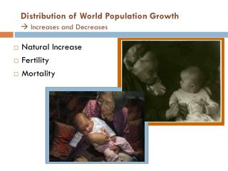 Distribution of World Population Growth  Increases and Decreases