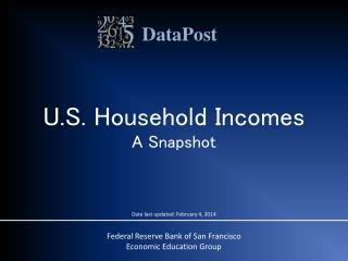 U.S. Household Incomes A Snapshot
