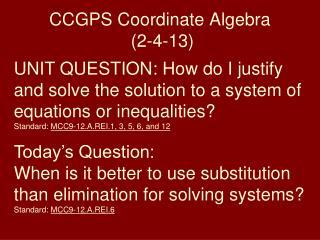 CCGPS Coordinate Algebra (2-4-13)
