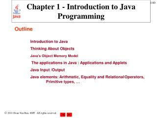 Chapter 1 - Introduction to Java Programming