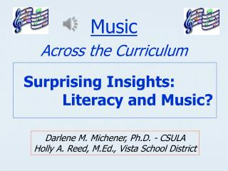 Surprising Insights:	  			Literacy and Music?