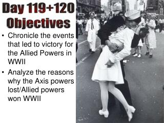 Chronicle the events that led to victory for the Allied Powers in WWII