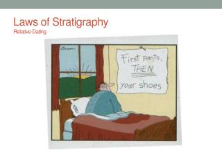 Laws of Stratigraphy Relative Dating