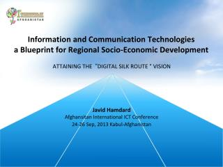 Information and Communication Technologies a Blueprint for Regional Socio-Economic Development