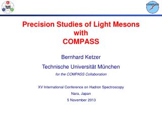 Precision Studies of Light Mesons with COMPASS