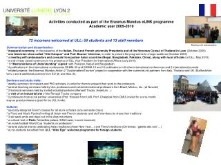 Activities conducted  as part of the Erasmus Mundus eLINK programme Academic year 2009-2010