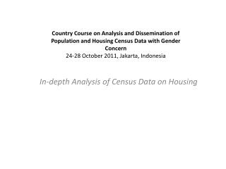 In-depth Analysis of Census Data on Housing