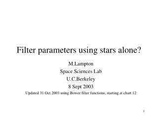 Filter parameters using stars alone?