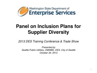 Panel on Inclusion Plans for Supplier Diversity