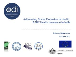 Addressing Social Exclusion in Health:  RSBY Health Insurance in India