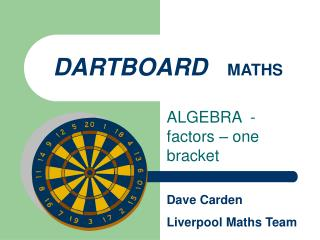 DARTBOARD MATHS