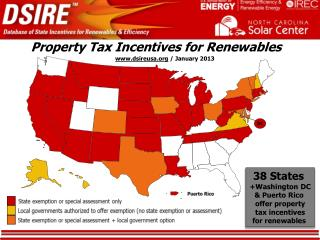 Property Tax Incentives for  Renewables ..