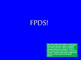FPDS!