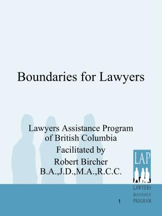Boundaries for Lawyers