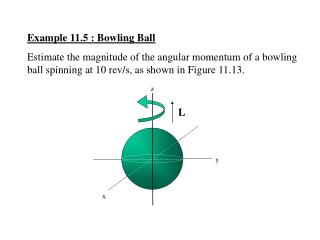 Example 11.5 : Bowling Ball