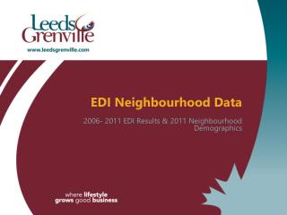 EDI Neighbourhood Data