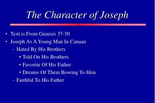 The Character of Joseph