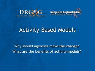Activity-Based Models