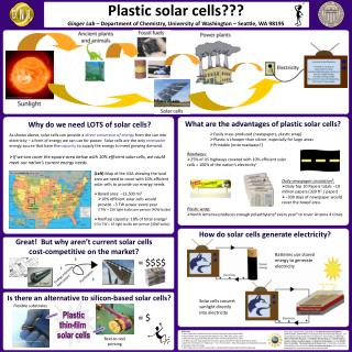 Plastic solar cells???