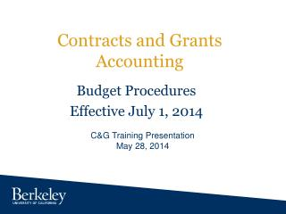 Contracts and Grants Accounting