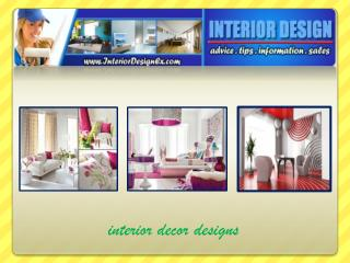 Interior Decor Designs Plans to Beautify Your House
