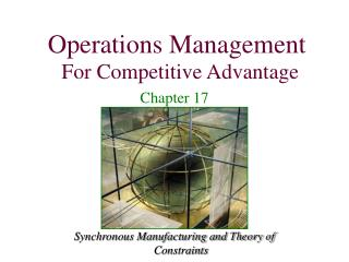 Synchronous Manufacturing and Theory of Constraints