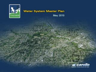 Components of a Water System Master Plan