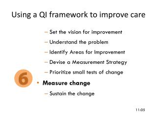 Using a QI framework to improve care