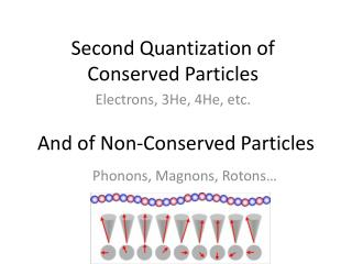 Second Quantization of Conserved Particles