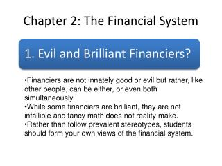 Chapter 2: The Financial System