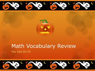Math Vocabulary Review
