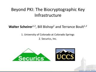 Beyond PKI: The  Biocryptographic  Key Infrastructure