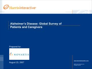 Alzheimer's Disease: Global Survey of Patients and Caregivers