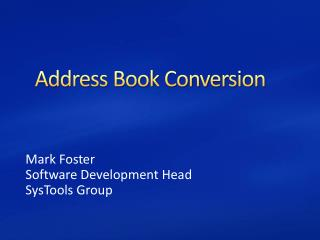 Address Book Converter