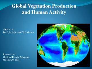Global Vegetation Production and Human Activity