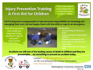 Injury Prevention Training & First Aid for Children