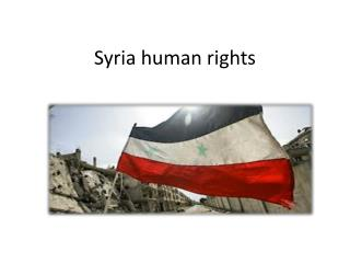 Syria human rights
