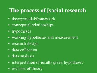 The process of [social research