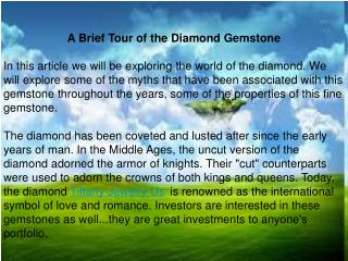 A Brief Tour of the Diamond Gemstone