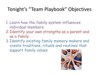 "Tonight's ""Team Playbook"" Objectives"