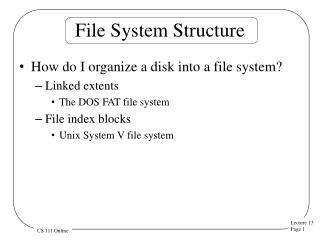 File System Structure