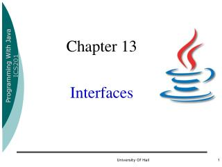 Chapter 13 Interfaces