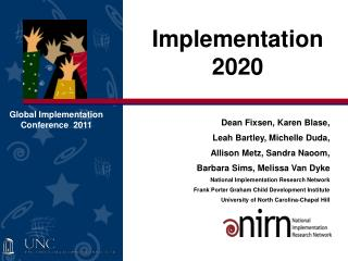 Implementation 2020