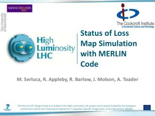 Status of Loss Map Simulation with MERLIN Code