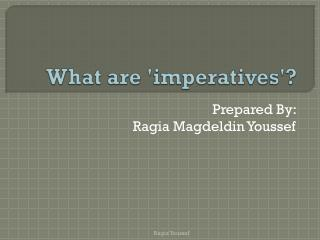 What are 'imperatives'?