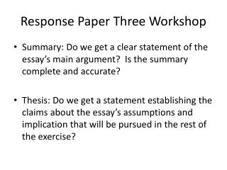 summary and response essay thesis
